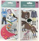 U CHOOSE  Jolee's TRACK AND FIELD EQUESTRIAN 3D Stickers sports horse rider