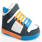 BRAND NEW BOYS TRAINERS KIDS ANKLE HI HIGH TOP TRAINERS BOOTS SCHOOL SHOES SIZES