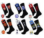 NEW OFFICIAL GENUINE MENS FOOTBALL CLUB SOCKS COTTON RICH BLACK FITS UK 6 TO 11