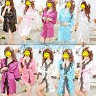 Sexy Lady Adult Underwear Pajamas Short Kimono Night Dress Bath Robe Sleepwear