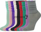 5 Pairs Ladies UK Made Slouch Socks Fine Gauge VARIOUS COLOURS 4-7