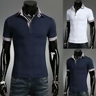 Mens Stylish Slim Fit Double Collar Short Polo Shirts (3 Colors)