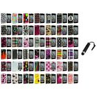 Color Design Hard Snap-On Case Cover+Stylus Plug for iPod Touch 4th Gen 4G