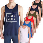JACK AND JONE JEANS VESTS - MENS & BOYS PLAIN REGULAR VESTS TANK TOP T-SHIRTS