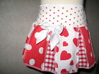 Goth,Punk, White,Red,Cream Spots,Hearts,Check Lolita Festival, Skirt-All sizes