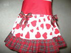 Baby Girl Red,White,Black hearts,Tartan Check frilly,party,Punk,rock,Gift Skirt