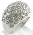 Exquisite 18K White Gold Plated Crystal Beads Ring Size: 7.8.9