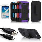 Heavy Duty Rugged Case Holster Stand Cover For Samsung Galaxy Note 2 II N7100