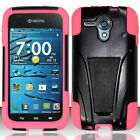 For Kyocera Hydro Edge C5215 Advanced HYBRID KICKSTAND Rubber Case Phone Cover