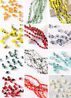 100pcs Teardrop Spacer Loose Beads Faceted Glass Crystal Finding 10 Colors 3*5mm
