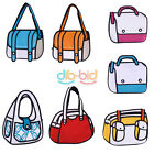 Korean 2D Drawing 3D Jump Handbag Woman New Canvas From Cartoon Messenger Bag