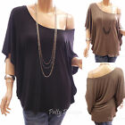 Unique On/One Shoulder Batwing Casual Tunic Top