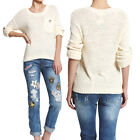 MOGAN Contrast POCKET OVERSIZED SWEATER Roll Up Sleeve Slouchy Knit Pullover Top