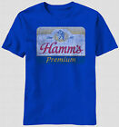 Hamm's Brewing Company Premium Beer Logo Label Since 1865 Vintage T-shirt top