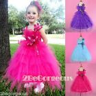 Tulle Flower Girl Dress Wedding Bridesmaid Occasion Party Age 2-10 Years #254