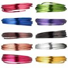 4MM FLAT ALUMINUM WRAP CRAFT JEWELRY WIRE 18 FEET MANY COLORS