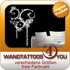 WANDTATTOO - abstrakte Ranke, Ketten, Ornament Gothic, dark - M291
