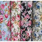 Peony Floral Garden Flowers 100% Cotton Poplin Fabric