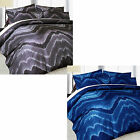 SINGLE, DOUBLE, QUEEN, KING - Midnight Quilt Cover Set NEW - Blue OR Black