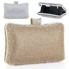 3Colors Diamante Clutch Evening Bag Purse Case Party Wedding Prom Chain Bags NEW