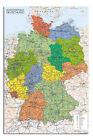 Germany Map Wall Chart 24 x 36 Inch Poster New - Laminated Available