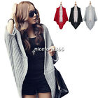 Lady Batwing Casual Loose Sweater Knitting Long Coat Shawl Outwear Cardigan