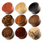 2-30mm HOLZ PLUG flesh tunnel ohr ear wood tube horn braun schwarz ebenholz palm