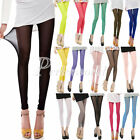 Women Sexy Ultrathin Sheer Mesh See-Through Cropped Leggings Pants Tights Candy