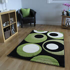 Lime Green Off White Circle Mats Great Value Low Cost Havana Conservatory Rug UK