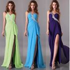 One Shoulder Sexy Prom Bridesmaid Evening Formal Party Dress Gown Long Dresses