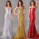 Sequins Golden/Sliver/Red Formal Gown Ball Cocktail Bridesmaid Evening dresses