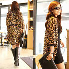 Women Leopard Batwing Sleeve Loose Chiffon Top Blouse Jacket Cardigan Fashion