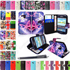 For Samsung Galaxy S3 Mini i8190 Leather Book Side Card Holder Flip Cover+Stylus