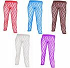NEW WOMENS FLORAL LACE FOOTLESS LADIES LEGGINGS TIGHTS 5 COLOUR SIZE S,M,L,XL
