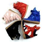 Ladies Genuine Leather Hidden Wedge Heel High-Top Trainers Ankle Boots Shoes A03