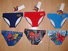 BOYS SPIDER SENSE SPIDERMAN SWIMMING SWIM TRUNKS BLUE RED NAVY 2 3 4 5 6 7 8