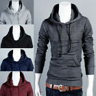 Mens Slim Fit Sexy Top Designed Hoodies Hooded Jackets Coats Sweater Sweatshirt