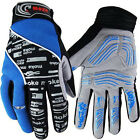 2014 Winter NEW Cycling Bike Bicycle Full Finger Gloves Blue Color Size M - XL