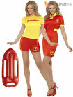 Ladies Licensed Baywatch Fancy Dress Sexy Uniform Summer Hen Party TV 80s 90s