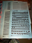 x. NOS Letraset Lettering 10 x 15 Sheet Various Fonts Sizes  Use Drop-Down Box