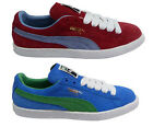 Puma Suede Classic Eco Mens Casual Laces Trainers - Chili Red / Palace Blue