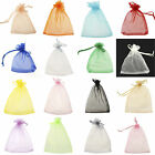 Bluk 100xLARGE QUALITY Organza Color Pouch Wedding Favour Bag Gift 7x 9/15x20cm