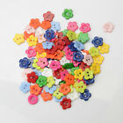 100PCS 2 Holes Flower Shape Resin Buttons Fit Sewing/Scrapbook Colors 15MM