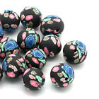 "50 Polymer New Clay Spacer Beads Flower Ball Jewelry Making 12mm( 4/8"")"