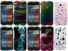For Motorola Moto X phone Animal Colorful Designs Rubberized Hard Cover Case