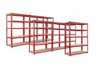 7 Bay Warehouse Racking 5 Tier Garage Shelving  WIDE & DEEP TS18/12/55