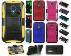 For Motorola Moto X XT1058 HYBRID COMBO KICK STAND Rubber Case Cover