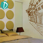 DecoMatters Victorian Town Houses Village Vinyl Wall Stickers, Wall Decals