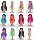 "Womens 18"" Full Long Fancy Dress Wigs Straight Cosplay Costume Ladies Wig Party"