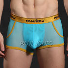 Stylish Cool See-Through Sexy Men's Underwear Boxer Briefs 3 Size 6 Colors